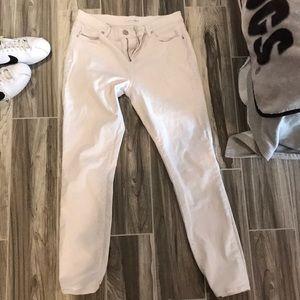 White loft jeans